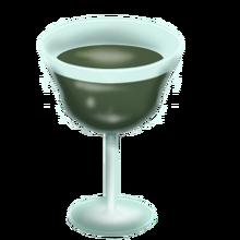 Glass of jimmy rustle wine