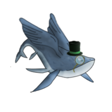 Timmy the flying whale pet