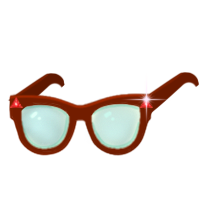 Ruby red glasses