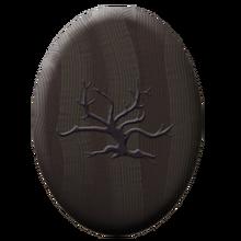 Ebony wood badge