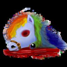 Blue pony head