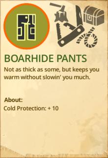 Boarhide pants
