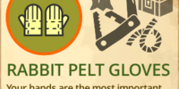 Rabbit Pelt Gloves