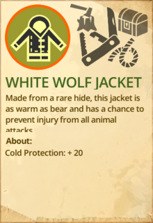 White wolf jacket
