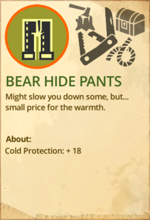 Bear hide pants