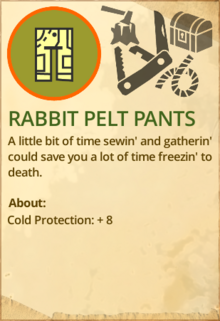 Rabbit pelt pants