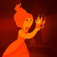 Flame princess and flambo by nyamas-d59ro4u