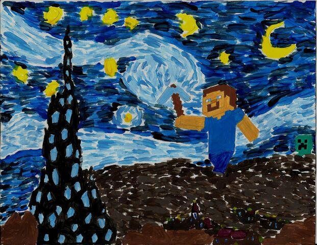 File:Starry Starry Minecraft.jpg