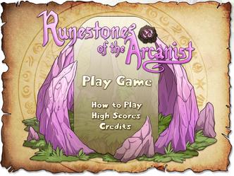 Runestones of the Arcanist titlescreen