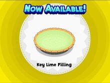 Unlocking key lime filling
