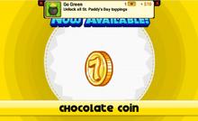 Unlocking chocolate coin