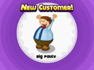 Big Pauly unlocked in Papa's Pastaria