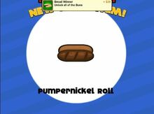 Unlocking pumpernickel roll