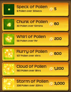 Pollen Flower Menu§Stage05