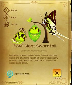Giant Swordtail§Flutterpedia