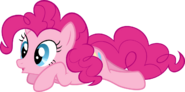 Pinkie Pie laying down vector