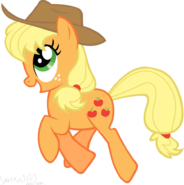 Applejack hapy jump