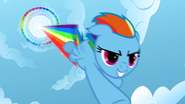 Rainbow Dash performing Sonic Rainboom