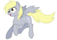 Derpy Hooves trying to look heroic