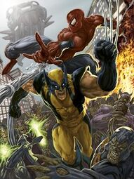 Wolverine spiderman answer 3 xlarge
