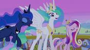 Celestia, Luna, and Cadance sing final chorus S4E25