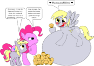 Derpy ate too many muffins