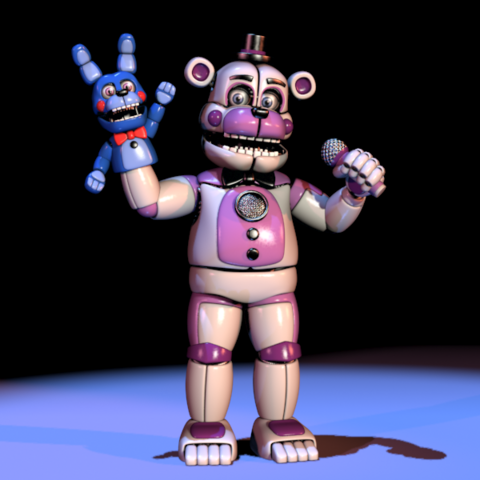 File:FNAFSL Funtime Freddy and Bonnie Hand Puppet Models.png