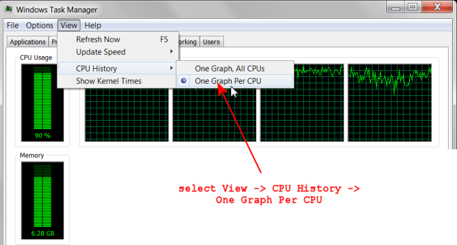 Task Manager Performance Win 7 Multi Core 01