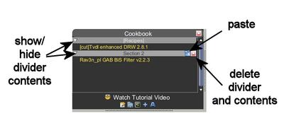 Cookbook divider options