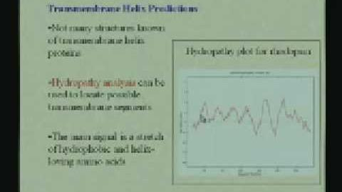 Lecture - 05 Protein Structure III
