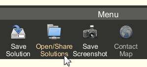 Open Share Solutions button