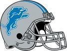 Detroit Lions helmet rightface