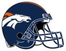 Denver Broncos helmet rightface