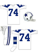 Cowboys white uniform 1960