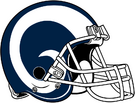 Los Angeles Rams helmet white rightface