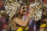 Washington Redskins cheerleader @ game vs New England Patriots 11