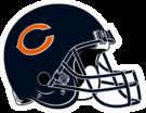 Chicago Bears helmet rightface