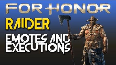For Honor - Raider - Emotes & Executions