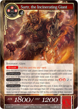 Surtr, the Incinerating Giant