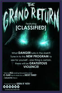 TheGrandReturn campaign logo