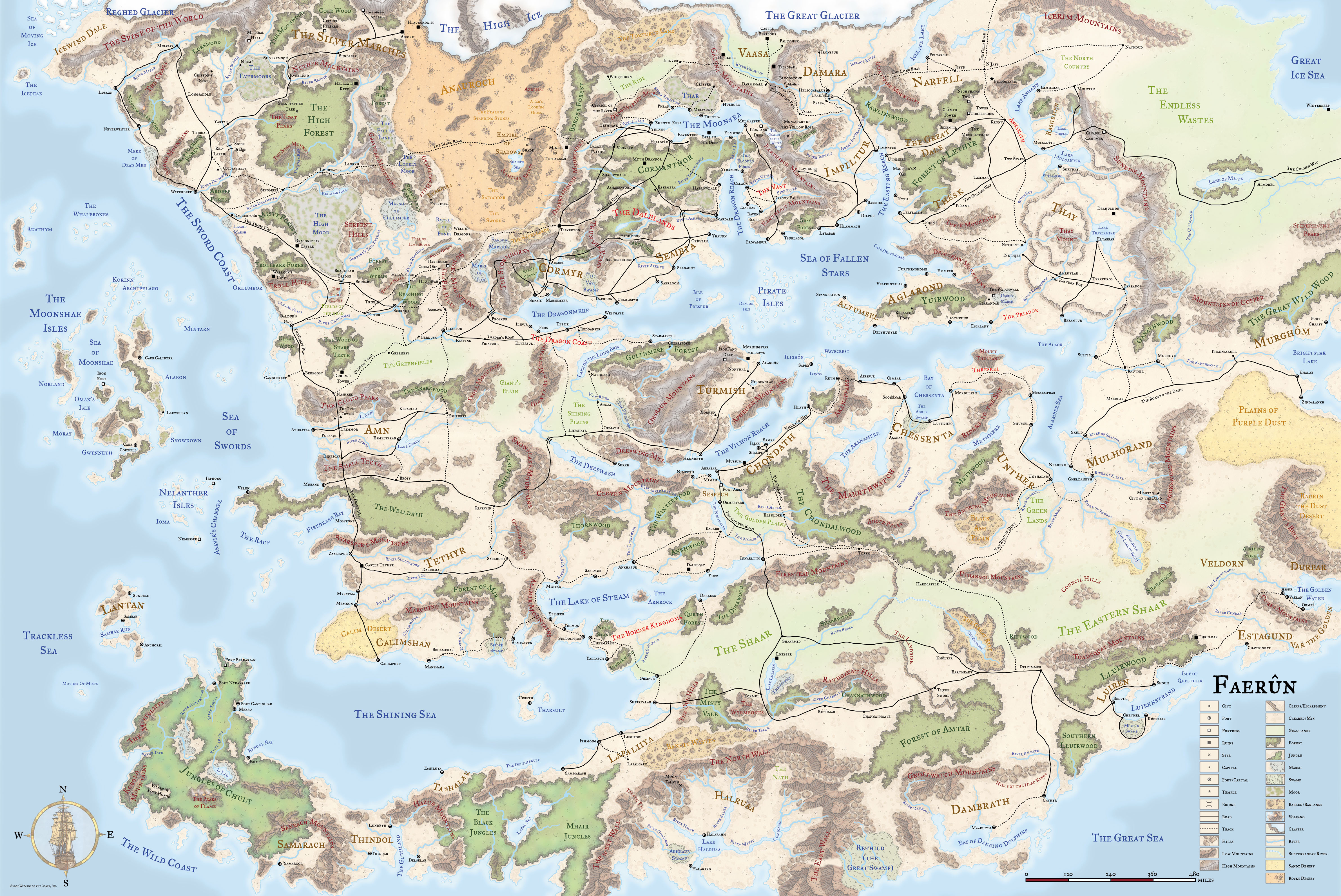 Forgotten Realms Map The Setting to End All Settings: Fantasy Map Review IV: Forgotten  Forgotten Realms Map