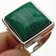 Malachite-ring
