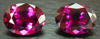 Garnet-faceted-pair