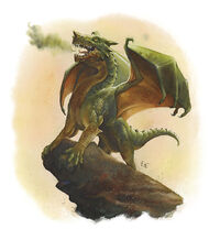 Green dragon Wyrmling