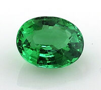 Emerald-faceted-oval