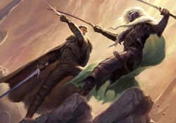 Artemis and Drizzt - Todd Lockwood