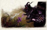 Orb wraith battle
