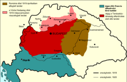 Map of the Hungarian Soviet Republic