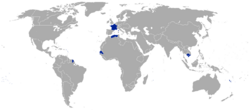 Map of the Second French Empire
