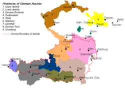 Map of German Austria